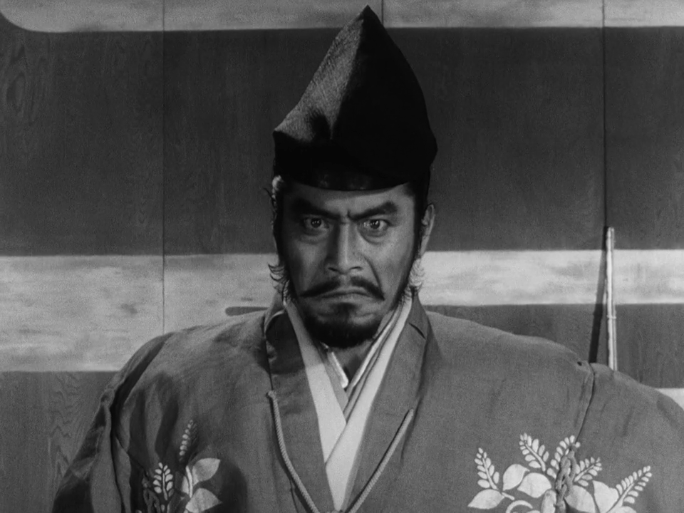 Mifune staring at the camera
