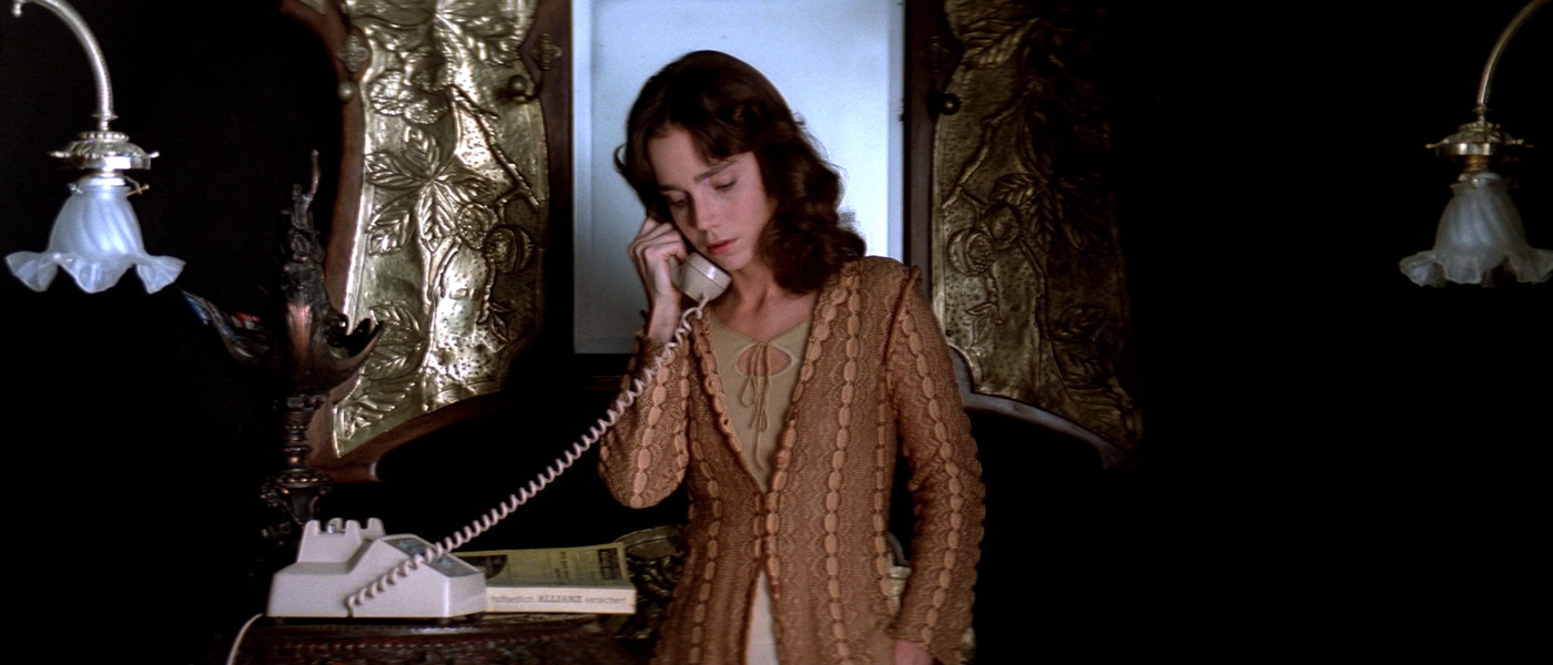 Black and gold scene from Suspiria