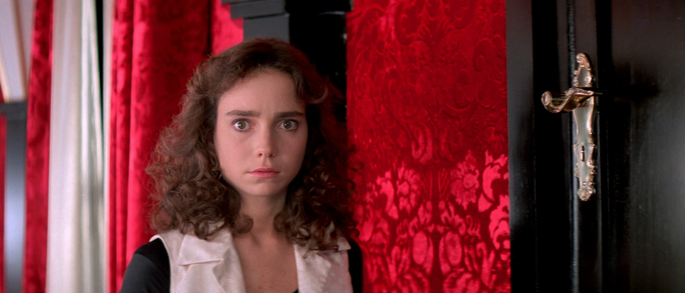 Red / black hallway scene from Suspiria
